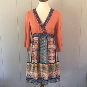 FLYING TOMATO Boho Rayon Dress Sz Medium